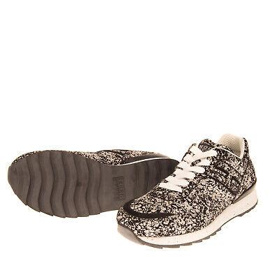 RRP €240 HOGAN REBEL Leather Sneakers EU39 UK5.5 US6.5 Speckled Dirty Look Logo