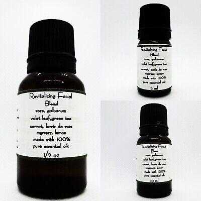 Revitalizing facial  Essential Oil blend 100% Pure therapeutic grade Revitalizing Essential Oil Blend