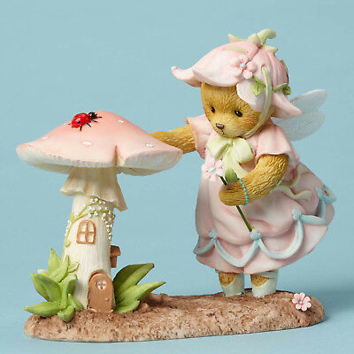 Enesco Cherished Teddies Bear Fairy With Mushroom House NIB  Item # 4051043 Enesco Cherished Teddies Bear