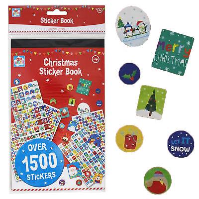 Navidad Pegatina Libro Sobre 1500 Pegatinas Niños Infantil Regalo Calcetín GB