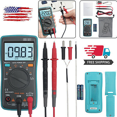 Auto Range Digital Lcd Multimeter Ammeter Ac Dc Voltage Ohmmeter Tester Meter Us