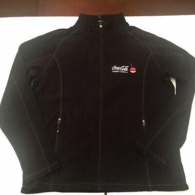 Elevate Coca Cola Cherry Vanilla Fleece Jacket Men's Large Black Rare Limited