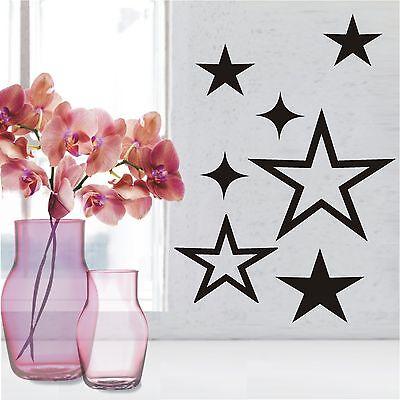 WANDTATTOO Wandaufkleber Wandsticker Set 7 Sterne Stars Wohnzimmer Deko WT 408