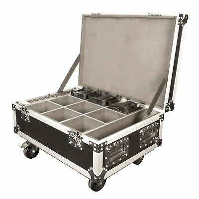 Chauvet DJ Freedom Charge 9 Charging Road Flight Case for Par Tri-6 Hex-4 Quad-4