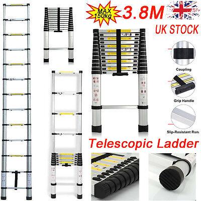Foldable Design 12.5FT/3.8M Multi-Purpose Aluminium Telescopic Ladder 13 Steps