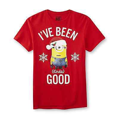 Minion Christmas T-Shirt Despicable ME Adult Size Large New - Adult Minion Shirt