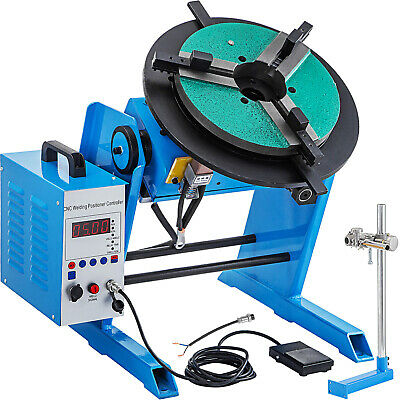 Rotary Welding Positioner 100kg50kg Turntable Table 3 Jaw Lathe Chuck 0.5-5 Rpm