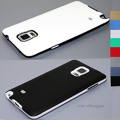 Luxury Soft Rubber Matte Hard Bumper Case Cover For Samsung Galaxy Note 4 5 S8 + - Hard Bumper Case Cover
