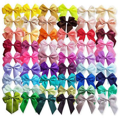 6pcs Large 90mm Satin Ribbon Bows Craft Embellishments Wedding Card Decoration ](Large Ribbon Bows)
