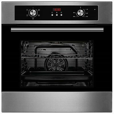 Cookology COF605SS 60cm S/Steel Built-in Single Electric Fan Oven, Digital Timer
