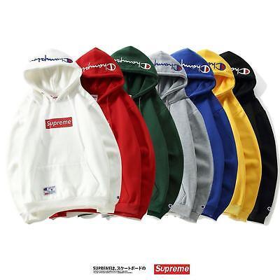 Champion Supreme Outdoor Hoodie Sweatshirt Pulli Hoody Kapuzenpullover Sweater (Champion Pullover)