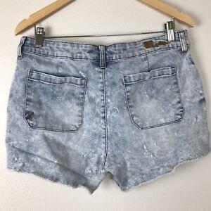 Kut from the Kloth Gerri Fray Shorts Size 10 Stretch Acid Wash F41