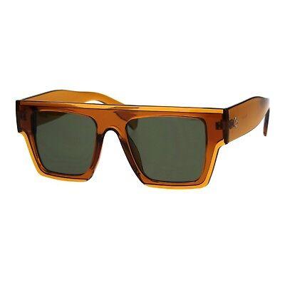 Womens Flat Top Square Frame Sunglasses Boyfriend Fashion Shades UV (Flat Top Boyfriend Sunglasses)