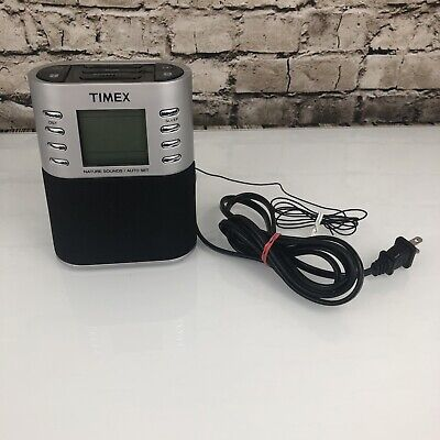 Timex Model T308S Alarm Clock With Nature Sounds Dual Alarms Chime Ocean Frog