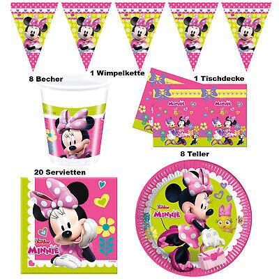 Minnie Mouse Set Micky Maus Deko Party Dekoration Kindergeburtstag  Mädchen Girl ()