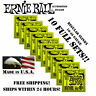 Купить Ernie Ball 2221 - *10 PACK ERNIE BALL REGULAR SLINKY 10-46 ELECTRIC GUITAR STRINGS 2221 (10 SETS)*