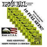 *10 PACK ERNIE BALL REGULAR SLINKY 10-46 ELECTRIC GUITAR STRINGS 2221 (10 SETS)*