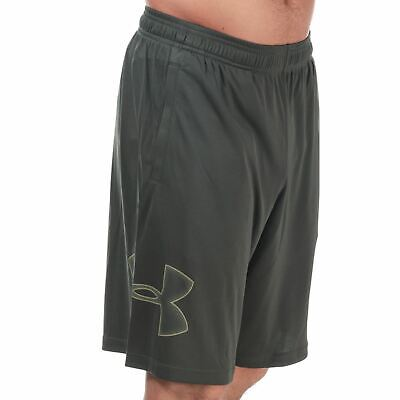 UNDER ARMOUR MENS GREEN TECH GRAPHIC SHORTS
