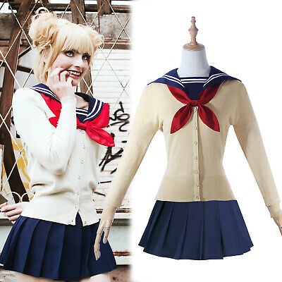 My Hero Academia Himiko Toga Cosplay Costume JK School Uniform Outfit Full Set](Toga Woman)