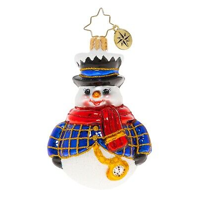 [NEW Christopher Radko JOLLY ALL A-ROUND SNOWMAN Christmas Ornament 1020232</Title]
