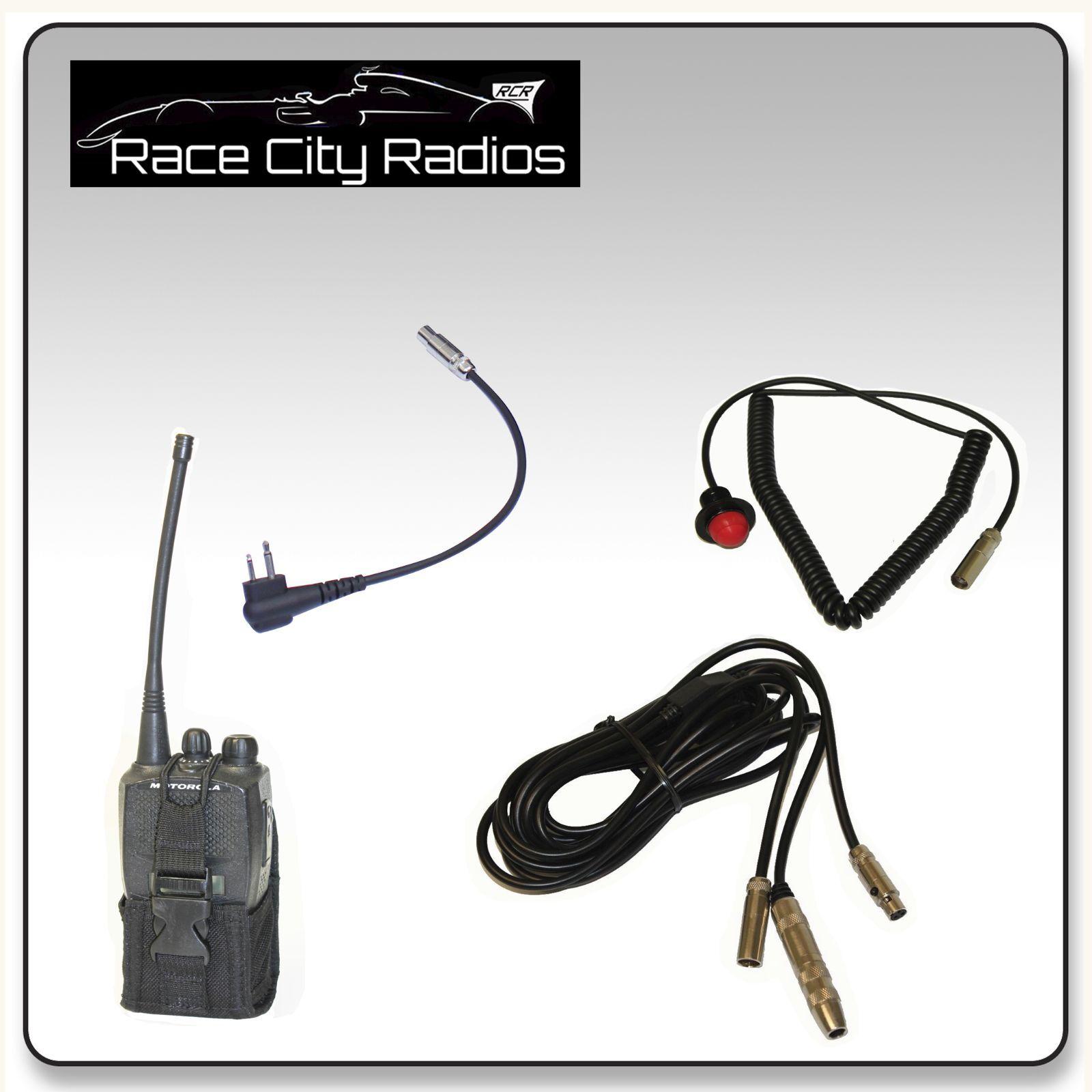 nascar race car wiring kit for motorola mount ptt switch radio pouch ebay
