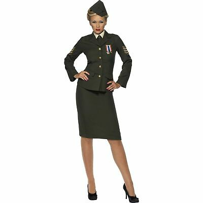 WW2 Wartime Female Officer Suit Army Uniform Ladies Fancy Dress Costume](Ww2 Fancy Dress Costumes)