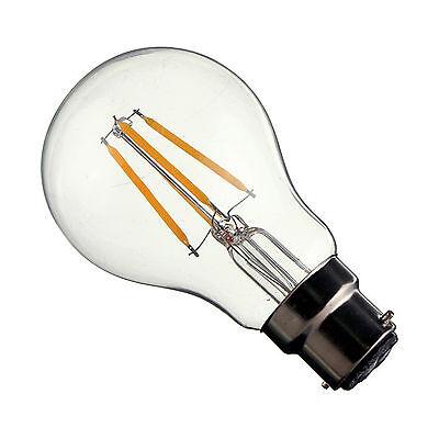 4W Retro Edison LED Filament Light Lamp Glass Bulb - 240V Cool White A60