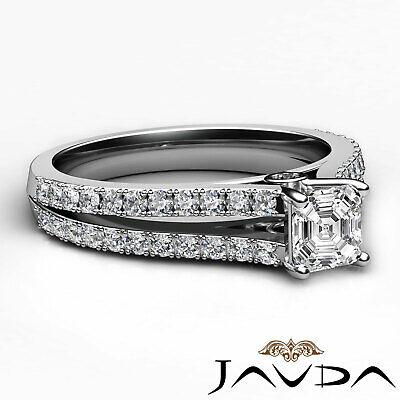 Asscher Shape Diamond Engagement Prong Set Ring GIA Certified F Color VS2 1.15Ct 8