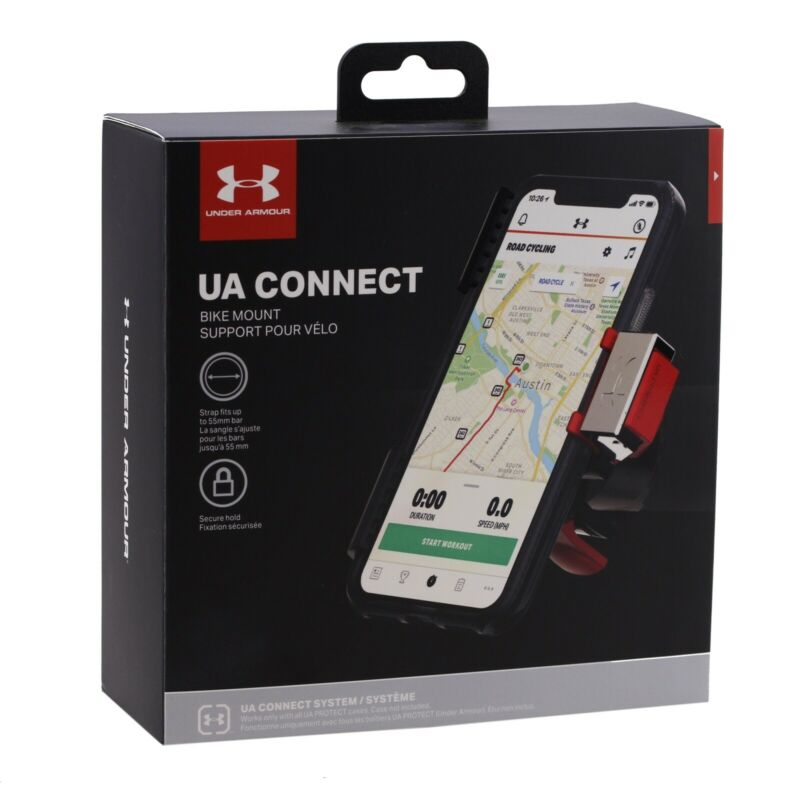 25 Lot Under Armour UA Connect Bike Mount for all UA Protect Cases UA-009-BLKR