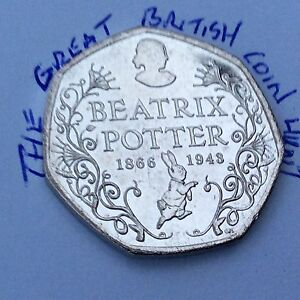 CIRCOLATE-2016-150-ANNIVERSARIO-50p-moneta-BEATRIX-POTTER-COMMEMORATIVE