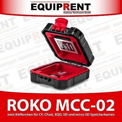 ROKO MCC-02 mini Case / Etui / Koffer für CF CFast XQD SD micro SD Karten EQ302 Rot Micro Case