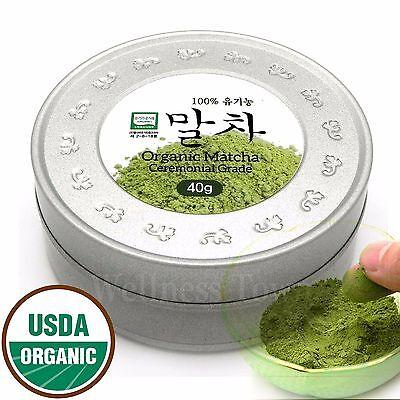 100% Pure Organic Matcha Ceremonial Grade 40g(1.41oz), Premium Green Tea Powder