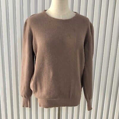 80s Sweatshirts, Sweaters, Vests | Women Vintage Soft Angora Wool Blend Coffee Brown Colour Jumper likely Aust Size 10 $21.52 AT vintagedancer.com