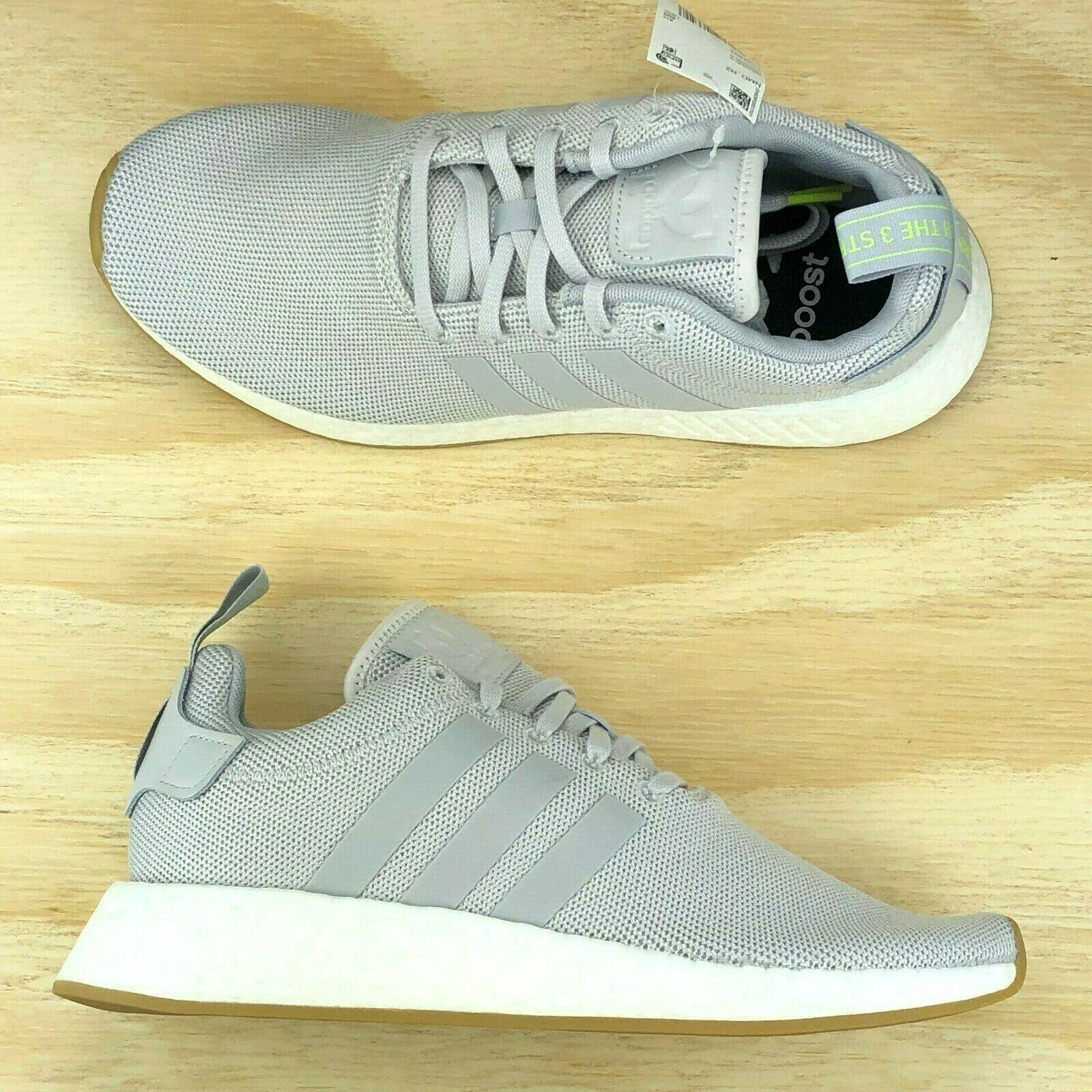 Adidas Originals Nmd R2 Boost Vapor Grey Men Running Shoes