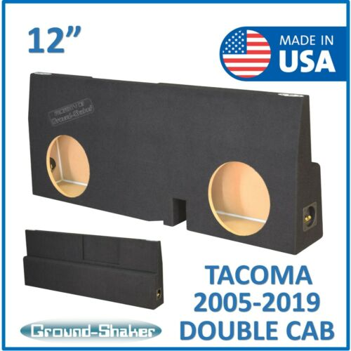 "Fits Toyota Tacoma Double-Cab 2005-2018 12"" Dual Sub Box Subwoofer Enclosure"
