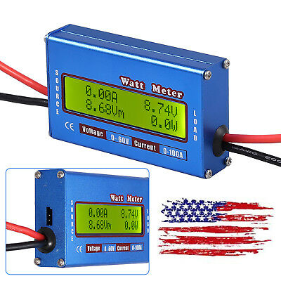 Digital Lcd Battery Watt Meter Voltage Power Analyzer With Backlight Amp Monitor