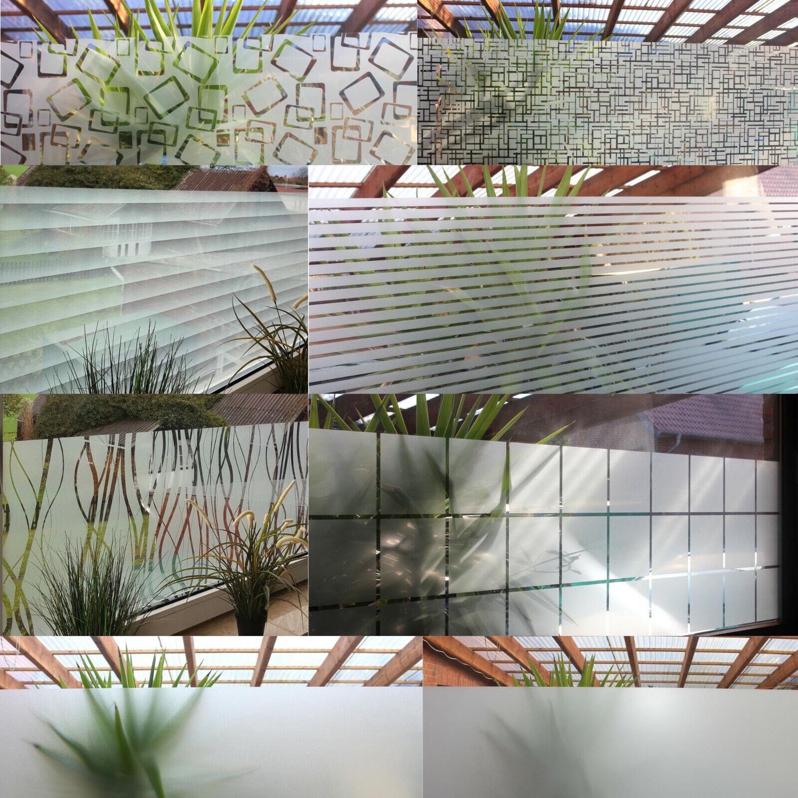 6,67€/m² Milchglasfolie Sichtschutzfolie Fensterfolie Dekor Klebe Folie