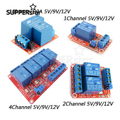 1ch2ch4ch Relay Module Board With Optocoupler Hl Level Triger 591224v