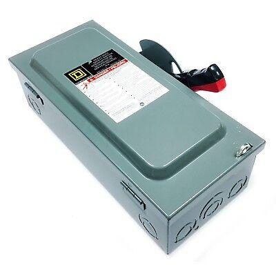 Square D H221n Heavy Duty Safety Switch 30a 240vac 5060hz Nema Type 1