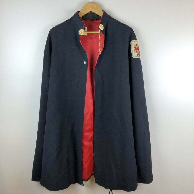 Knights of Columbus Vintage Black Cape w/ Red Lining (CT)