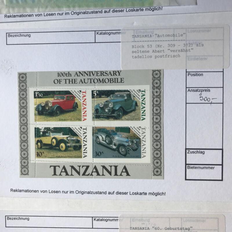 Tansania - Diverse Blöcke als Abarten - 5 x Block 64, 1 x Block 42 und 1 x 53
