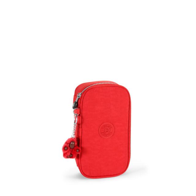 BNWT Kipling 50 PENS Pencil Case in RED  RRP £29