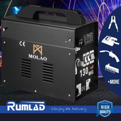 MIG 130 Welder AC Flux Core Wire Automatic Feed Welding Machine w/Mask&Spool Gun