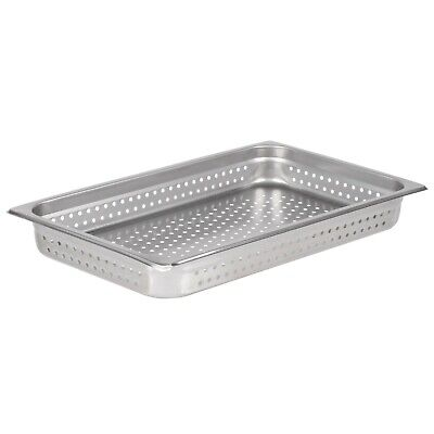 Full Size 2 12 Deep Stainless Steel Perforated Steam Table Hotel Pan