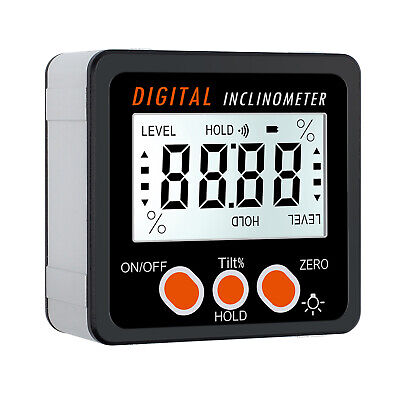 0-360 Digital Lcd Protractor Gauge Level Box Angle Finder Inclinometer Magnet