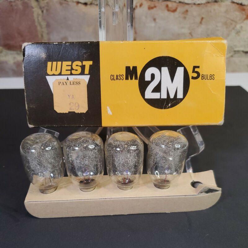 West Electric Co Flash Bulbs Class M 2M, 4 bulbs super speed flash