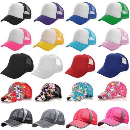 Damen Herren Mesh Basecap Mützen Baseball Cap Kappe Sport Golf Hüte Sonnenhut