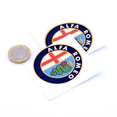 Alfa Romeo Badge Decal Vinyl Car STICKERS 50mm x2 Race Racing Rally Sticker Bomb