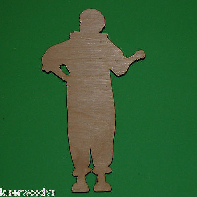 Circus Clown Unfinished Wood Shape Cut Out C1101 Crafts Lindahl Woodcrafts