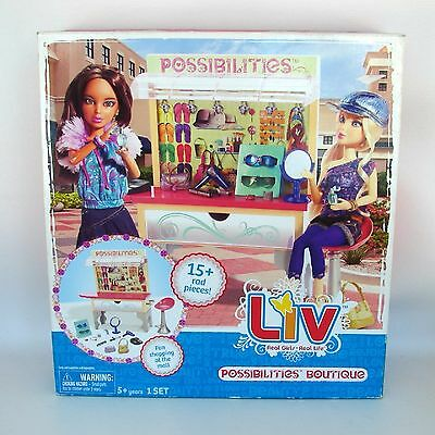 Liv Doll Possibilities Boutique Fashion Kiosk Spinmaster Accessories Set Jewelry